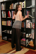 allover30women galleries2 159-Allover30-Busty-Mature-Samantha-In-Library-With-Fishnet-Suit ph