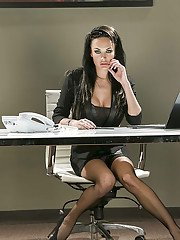 secretarypics pics office-babe-alektra-blue-is-showing-her-hot-ass-in-tight-stockings