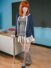 milfbank pictures schoolgirl-redhead-sadie-undressing-her-lingerie-to-show-these-titties