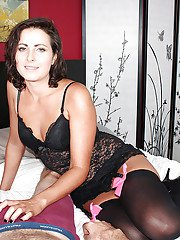 exclusivemilf pics older-brunette-wife-in-sexy-lingerie-giving-her-husband-a-handjob