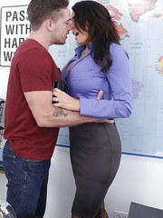 milfbank pictures brunette-teacher-reagan-foxx-welcomes-students-sexual-advances-for-hard-fuck