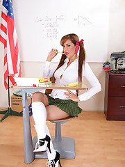grannytitty pics 2011-04-02 hot-babe-with-pigtails-roni-flashing-ass-and-tits-in-school-uniform