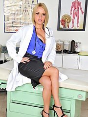 bustyrack pics busty-babe-in-doctor-uniform-krissy-lynn-exposing-her-sexy-ass