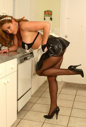 pornpics galleries curvy-milf-in-stockings-stripping-off-her-maid-uniform-in-the-kitchen