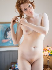 thehairylady blog redhead-hairy-pussy-girl-peeing-2