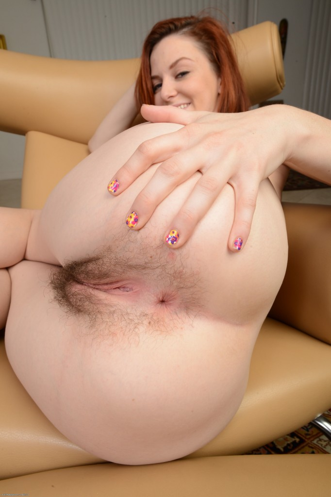 thehairylady blog redhead-cute-girl-emma-evins-spreading-hairy-cunt
