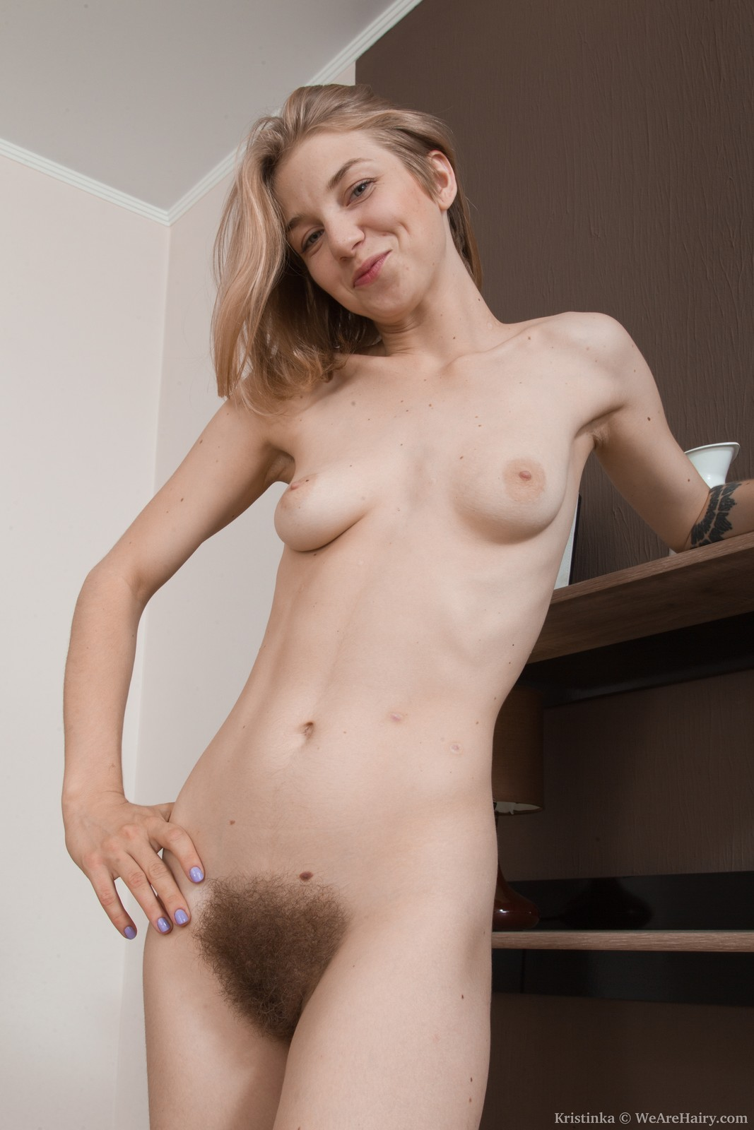 Beautiful natural hairy nude girls