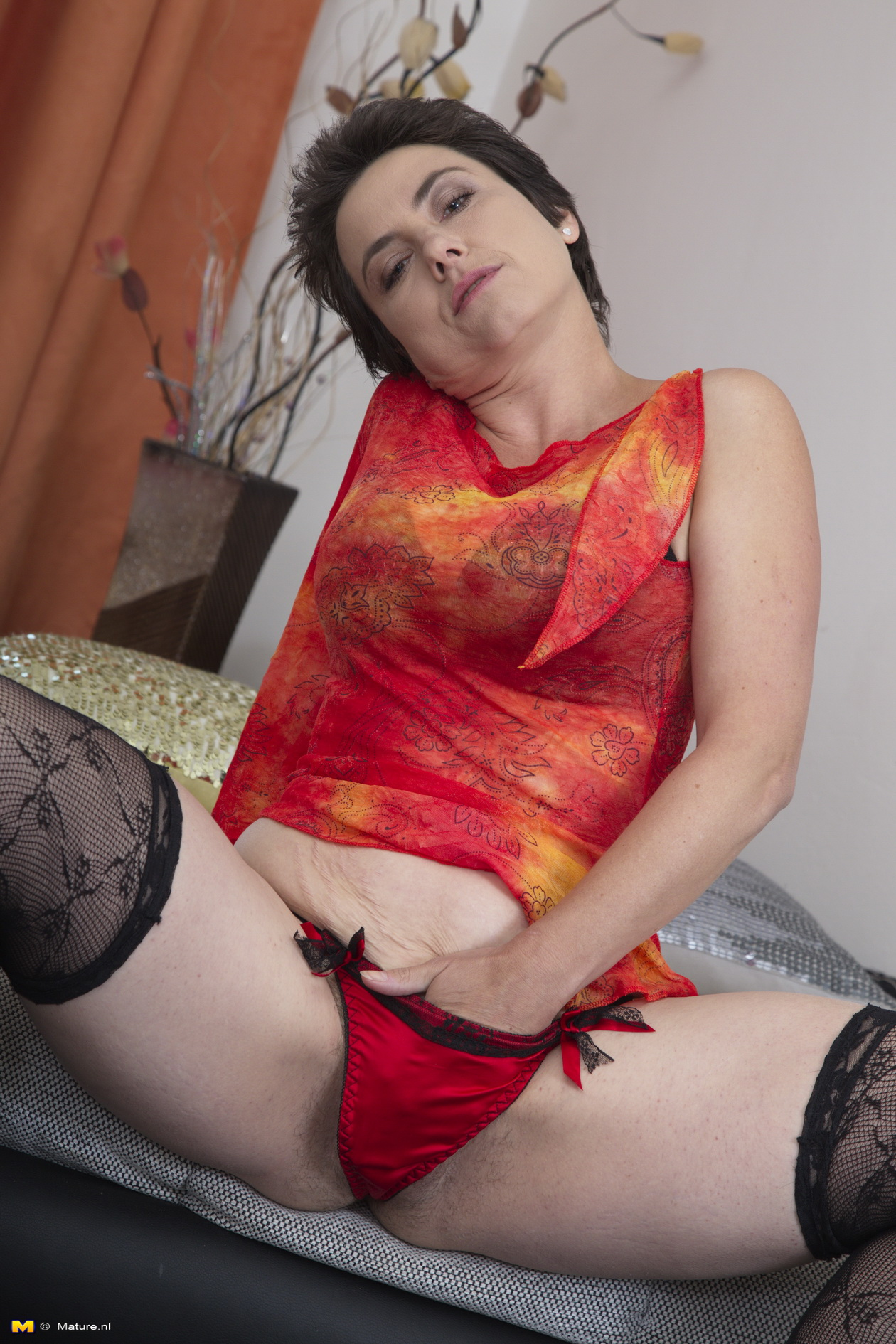 Hairy milfs cristine and artemisia fingering in stockings - 3 part 9