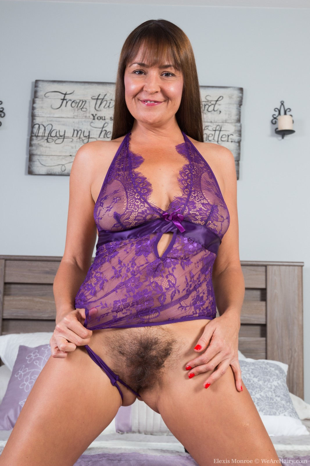 thehairylady blog elexis-monroe-enjoys-her-purple-lingerie