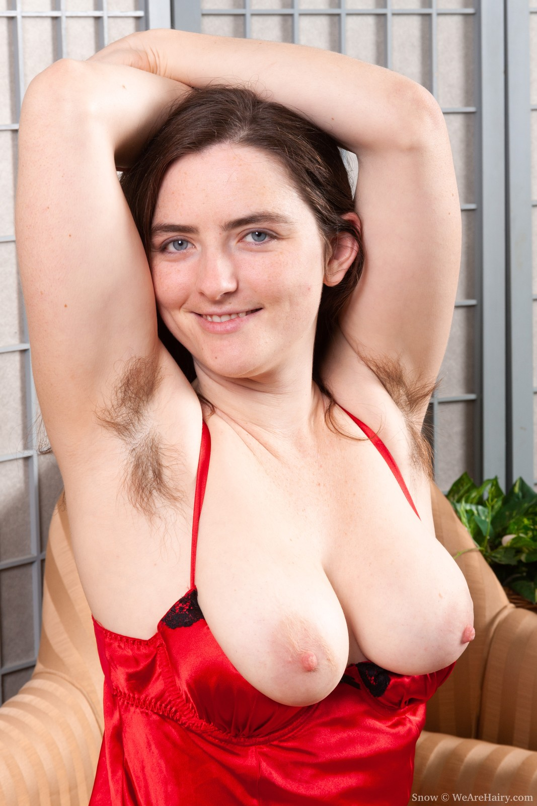 thehairylady blog lappi-sy-strips-off-her-red-lingerie