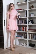 wearehairyfree models Margaret Margaret_strips_naked_by_her_bookshelf_today