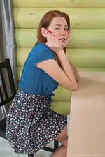 wearehairyfree models Candy_Red Candy_Red_masturbates_while_sitting_at_her_desk