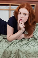 wearehairyfree models Florence Hairy_Florences_bright_red_hair_matcher_her_carpet