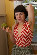 wearehairyfree models Juliette_March Juliette_March_gets_kinky_in_the_kitchen