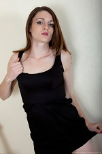 wearehairyfree models Louise_Harmen Hairy_woman_Louise_Harmen_removes_black_dress
