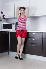 wearehairyfree models Rose Rose_strips_naked_and_jumps_on_her_counter_naked