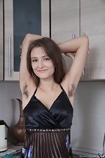 wearehairyfree models Shivali Shivali_strips_naked_enjoying_watemelon