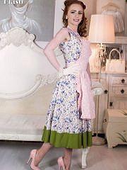 worldoffetish solo-nylon-models vintage-flash ella-hughes-dress freeones