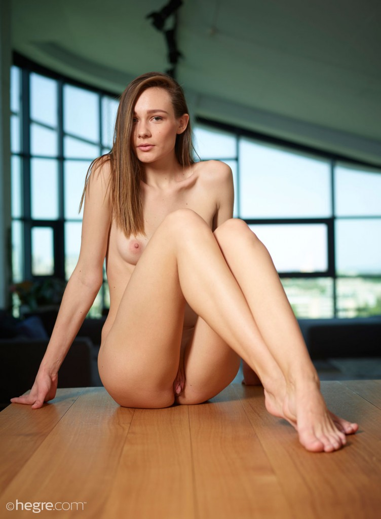 gyrls mira-naked-on-a-table