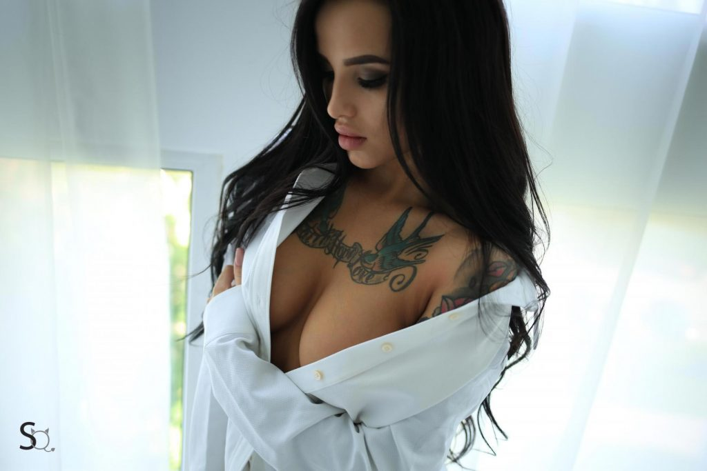 gyrls irenaq-white-shirt-and-lace-panties
