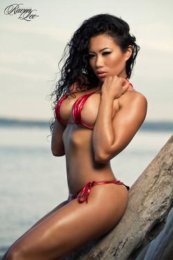 lemmecheck modelnews raven-lee-busty-exotic-beauty-wets-red-bikini-83104