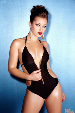 lemmecheck premium dani-daniels-glamourous-and-sexy-in-black-swimsuit-and-heels-97936