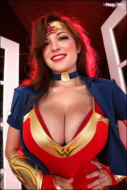 lemmecheck premium tessa-fowler-is-a-big-boob-superhero-for-halloween-139934
