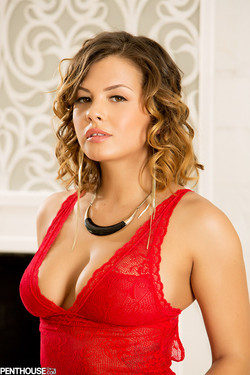 lemmecheck premium keisha-grey-sexy-bombshell-in-red-lace-lingerie-159080