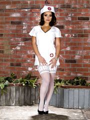 pervertedmilfs albums liza-del-sierra-takes-off-her-beautiful-nurse-uniform-and-poses-in-white-stockings-and-high-heels