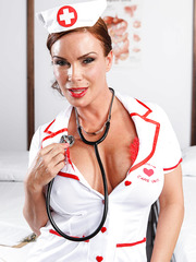 pervertedmilfs albums mature-nurse-with-seductive-eyes-and-big-tits-diamond-foxxx-poses-in-her-uniform