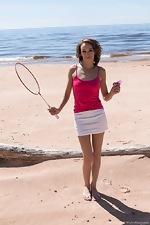 wearehairyfree models Cleo_Dream Cleo_Dream_enjoys_outdoor_naked_badminton