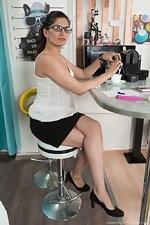 wearehairyfree models Ananda_Ray Ananda_Ray_masturbates_after_drinking_coffee