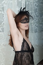 wearehairyfree models Ariadna_Moon Ariadna_Moon_strips_while_wearing_a_sexy_mask