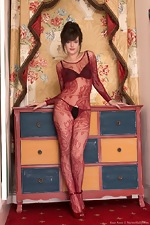 wearehairyfree models Kate_Anne In_her_body_stocking_and_lingerie_Kate_Anne_strips