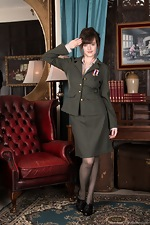 wearehairyfree models Kate_Anne Kate_Anne_strips_from_her_military_uniform