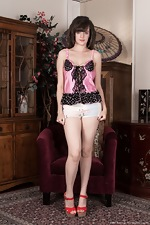wearehairyfree models Kate_Anne Sexy_denim_shorts_and_pink_top_gets_Kate_Anne_horny