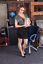 wearehairyfree models Simona Simona_strips_naked_while_in_her_office_today